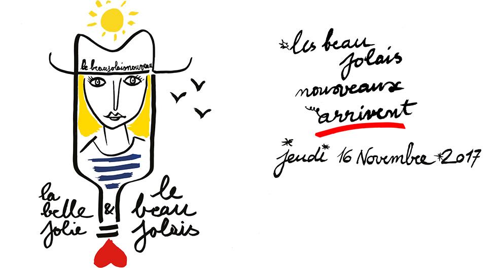 Beaujolais nouveau la belle Jolie